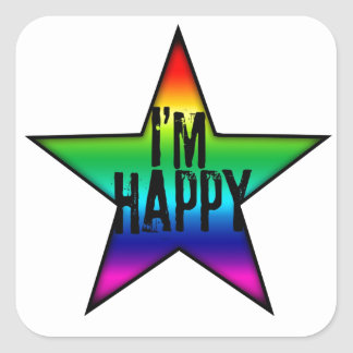 I'm Happy Rainbow Star Gay Sticker