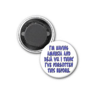 I'm having amnesia and deja vu... 1 inch round magnet