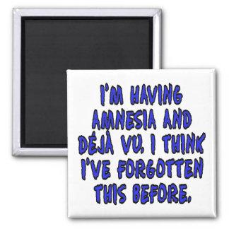 I'm having amnesia and deja vu... 2 inch square magnet