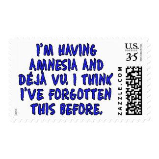 I'm having amnesia and deja vu... postage