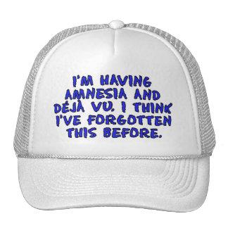 I'm having amnesia and deja vu... trucker hat