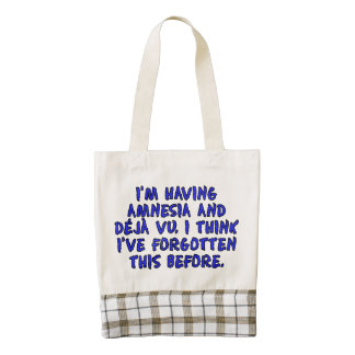 I'm having amnesia and deja vu... zazzle HEART tote bag