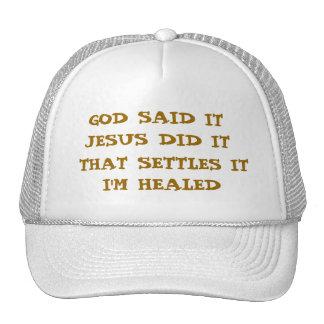 I'M HEALED TRUCKER HAT