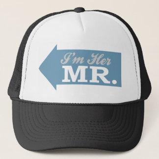 I'm Her Mr. (Blue Arrow) Trucker Hat