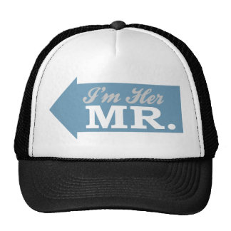 I'm Her Mr. (Blue Arrow) Trucker Hat