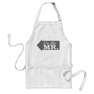 I'm Her Mr. (Gray Arrow) Adult Apron
