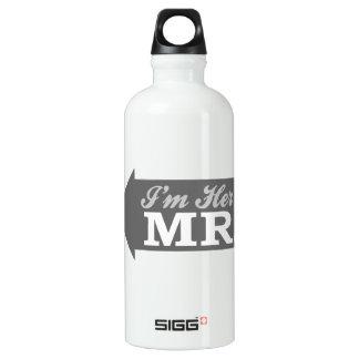 I'm Her Mr. (Gray Arrow) Aluminum Water Bottle