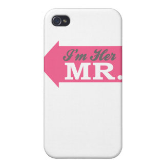 I'm Her Mr. (Hot Pink Arrow) iPhone 4 Cover