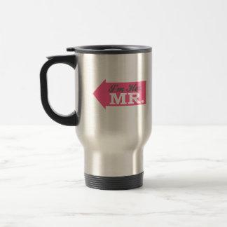 I'm Her Mr. (Hot Pink Arrow) 15 Oz Stainless Steel Travel Mug