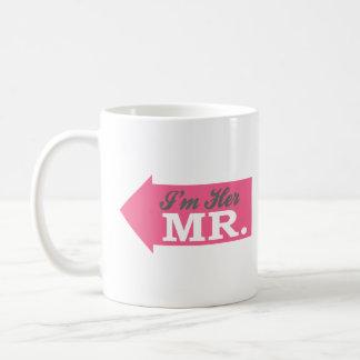 I'm Her Mr. (Hot Pink Arrow) Classic White Coffee Mug