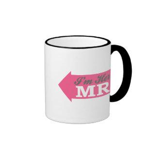 I'm Her Mr. (Hot Pink Arrow) Ringer Coffee Mug