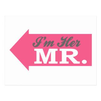 I'm Her Mr. (Hot Pink Arrow) Postcard