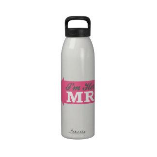 I'm Her Mr. (Hot Pink Arrow) Water Bottles