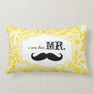 I'm Her Mr. Lemon Zest Mustache Pillow