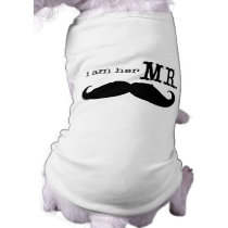 I'm Her Mr. Mustache  Dogs in Weddings T-Shirt