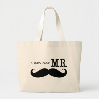 I'm Her Mr. Mustache Grooms Gifts Jumbo Tote Bag