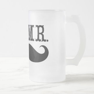 I'm Her Mr. Mustache Grooms Gifts 16 Oz Frosted Glass Beer Mug