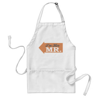 I'm Her Mr. (Orange Arrow) Aprons