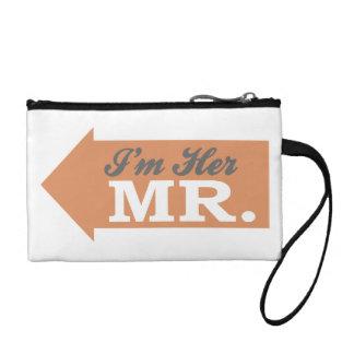 I'm Her Mr. (Orange Arrow) Change Purse