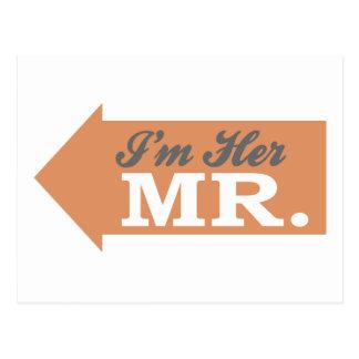 I'm Her Mr. (Orange Arrow) Postcard