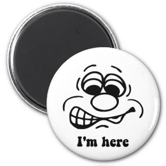 I'm here 2 inch round magnet