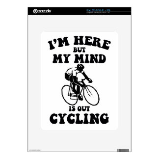 I'm here but my mind is out cycling decal for iPad