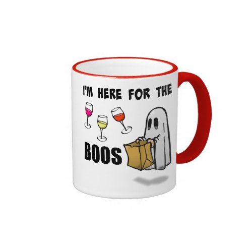 I'm Here for the Boos Funny Halloween Ghost Ringer Mug