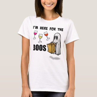 I'm Here for the Boos Funny Halloween Ghost T-Shirt