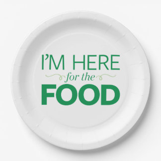 I'm Here for the Food Paper Plate