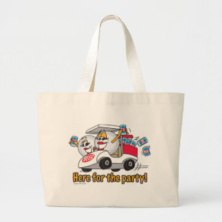 I'm Here For The Party Golf Cart Girls Jumbo Tote Bag