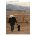 I'm Here For You Black Lab & Cowboy Card - Western