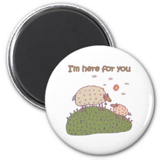 I'm Here For You Lamb Design 2 Inch Round Magnet