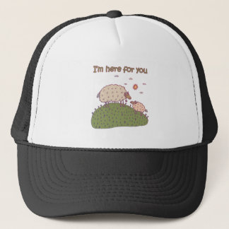 I'm Here For You Lamb Design Trucker Hat