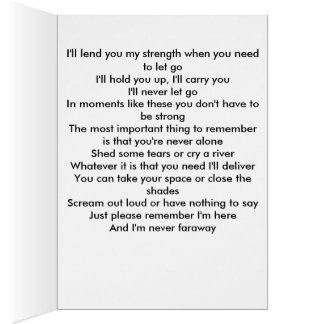 I'm Here Poem Greeting Card
