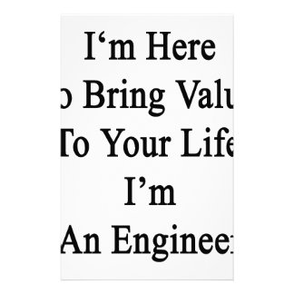 I'm Here To Bring Value To Your Life I'm An Engine Stationery