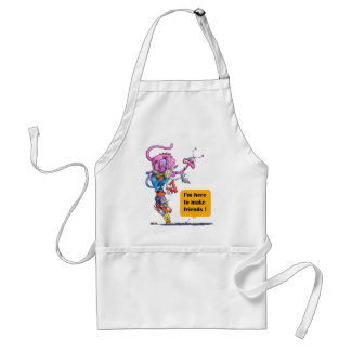 I'm here to make friends! adult apron