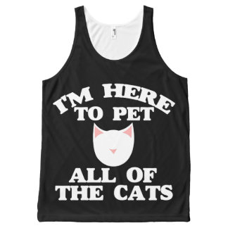 I'm here to pet all of the cats All-Over-Print tank top