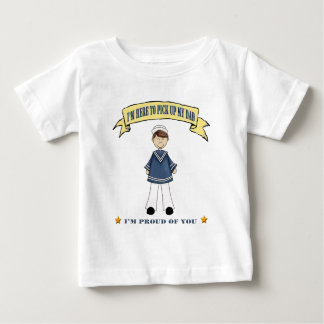 I'm Here To Pick Up My Dad (Navy) Baby T-Shirt