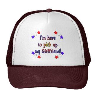 I'm here to pick up my girlfriend trucker hat