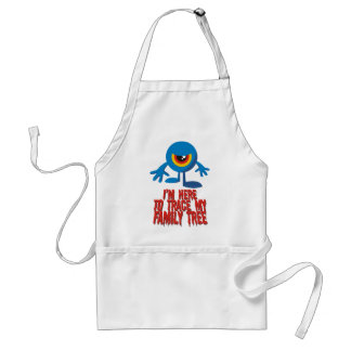 I'm Here To Trace My Family Tree Adult Apron
