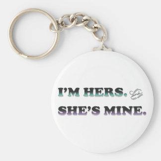 I'm Hers and She's Mine Keychain