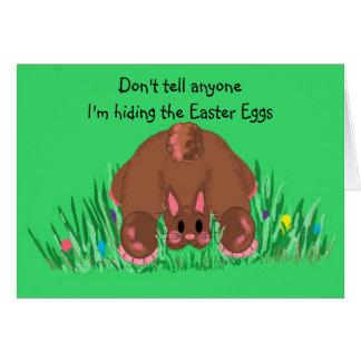 I'm Hiding the Easter Eggs Card