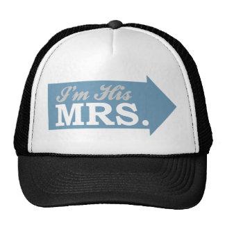 I'm His Mrs. (Blue Arrow) Trucker Hats