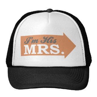 I'm His Mrs. (Orange Arrow) Trucker Hat
