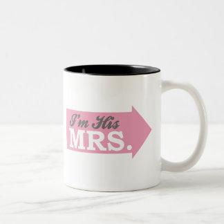 I'm His Mrs. (Pink Arrow) Mugs
