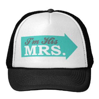I'm His Mrs. (Teal Arrow) Mesh Hat
