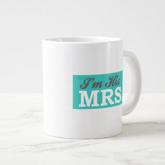 I'm His Mrs. (Teal Arrow) Extra Large Mugs