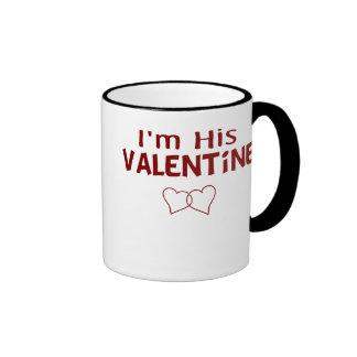 I'm His Valentine Ringer Coffee Mug