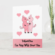 I'm Hog Wild Over You Holiday Card