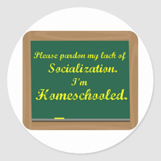 I'm homeschooled. sticker